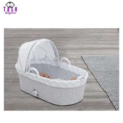 Delta Children Deluxe 2-in-1 Moses Bedside Bassinet Portable Crib image 3