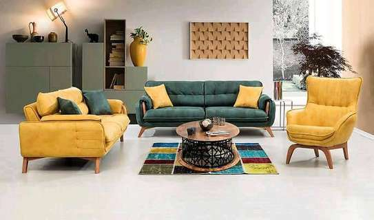 Green sofas/yellow sofas for sale in Nairobi Kenya/Modern sofas and couches Kenya/sofas and sectionals kenya/Latest sofa set designs image 1