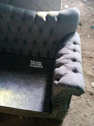 Three seater sofa/grey sofas/buttoned sofas/chesterfield sofas/sofas for three image 6