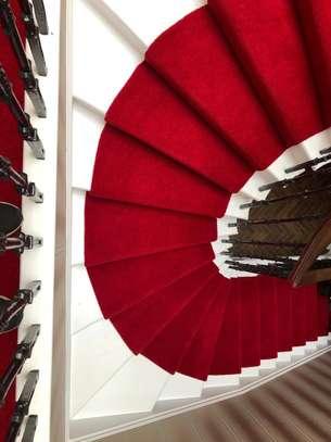Machine made high quality red carpets image 1