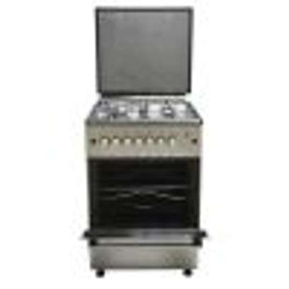 Mika Standing Cooker, 58cm X 58cm, 3 + 1, Electric Oven, Silver image 3