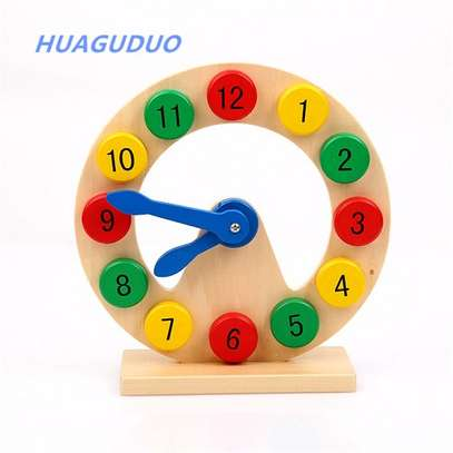 Kids Educational Learning Teaching Clock Toy image 1