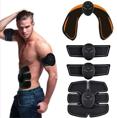 Smart Abs Stimulator Training Fitness Gear Muscle Hands And Abdominal Toning Trainer - Black image 3