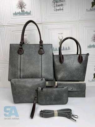 Fancy 5 in 1 Leather Handbags image 5