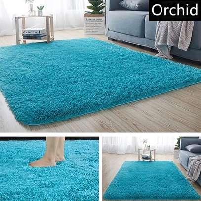orchid blue soft fluffy nonskid carpet image 1