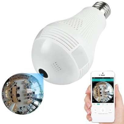 Generic Panoramic 360 degrees 1080P 2.0MP 3 LED Light Bulb Wi-Fi Hidden Camera image 1