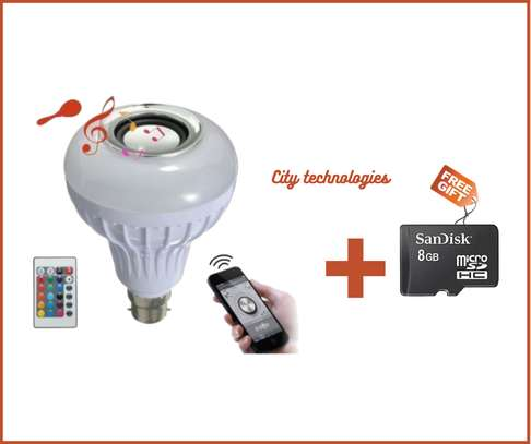 LED Light Bulb With Speaker With Wireless Bluetooth Smart Music Bul image 1