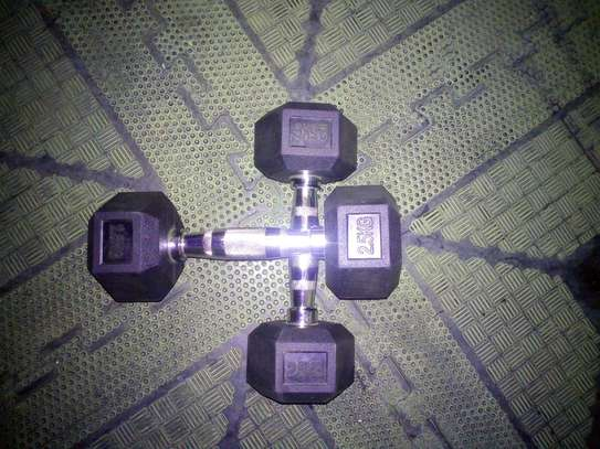 Brand new 2.5kg pair Hex dumbbells