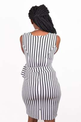 Black and White Striped Dress image 2