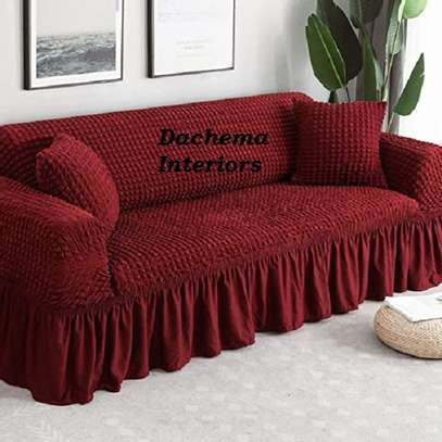 5 cushion couch Elastic Sofa cover image 5