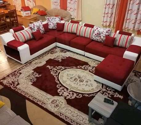 U shape sectional sofa image 1