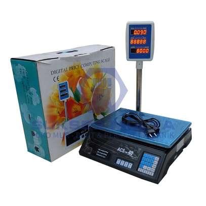 ACS-30 30kg/5g Digital Price Computing Scale for Vegetable US Plug Silver & Black image 1