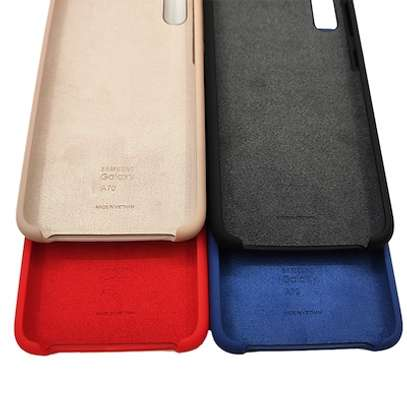 Silicone case with Soft Touch for Samsung A70,A60,A50,A40,A30,A20 image 3