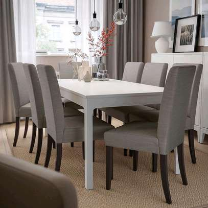 Six seater dining table for sale in Nairobi Kenya/white dining set image 1