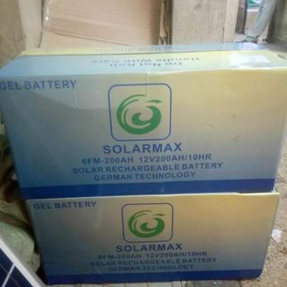 200AH Dry cell deep cycle gel solarmax