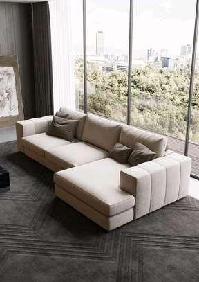 Latest sofa set designs in Nairobi Kenya/corner seat/six seater L shaped sofas image 1