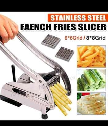 French fries slicer, stainless steel for homemade chips and potato fries image 1