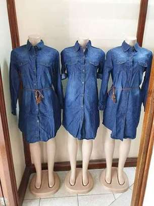 Denim Shirt Dress image 3