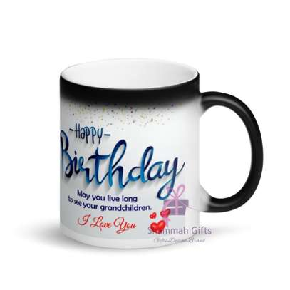 Colour changing mug printed with personalized design image 5