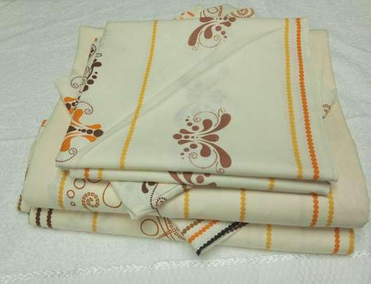 Brown and beige shade Bed sheets image 1
