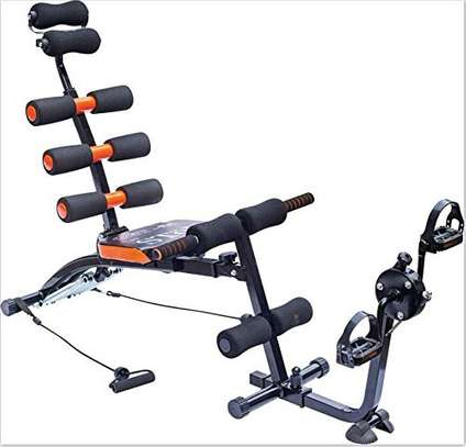 Six Pack Care Abs Exercise Bench With Cycle Pedals image 1