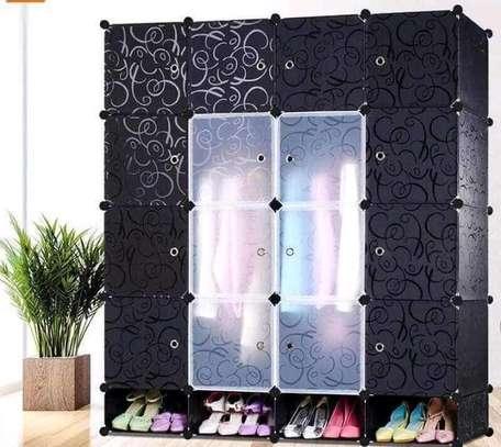 4 column plastic wardrobe image 5