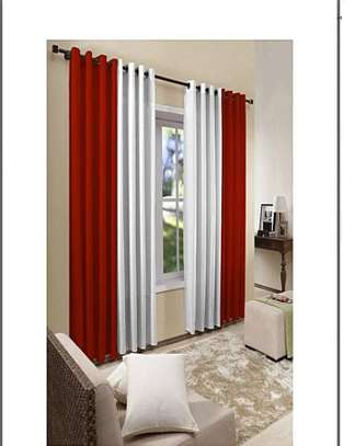 red curtains with a free sheers