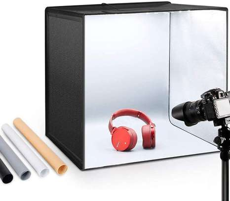 Photo Studio Light Box 11.8in/30cm PULUZ Portable Photo Studio Shooting Tent 10 Dimmable Modes Foldable Photography Light Box Kit with 6 Colors Backdrops(3 PVC Material) for Photography image 1