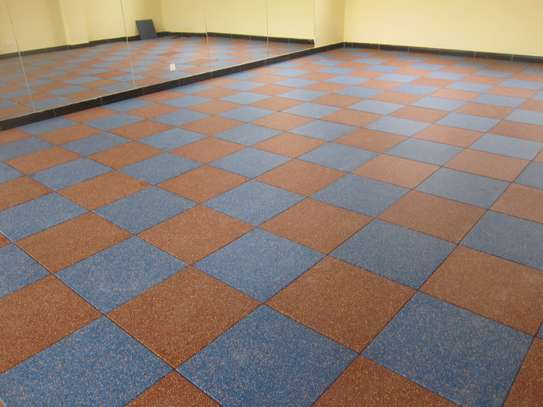 Gymn rubber tiles image 1