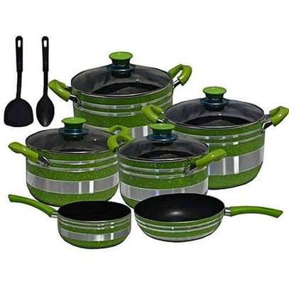 Yitong 13PCS Nonstick Cookware Set + Serving Spoons +Scouring Dish image 3