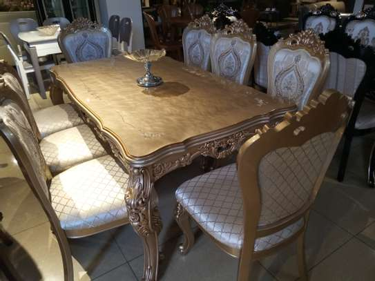 Glass 8Seater Dining table image 3