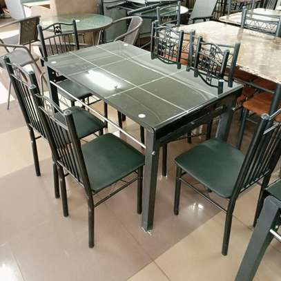 Small dining table with 6 chairs for sale S12P image 1
