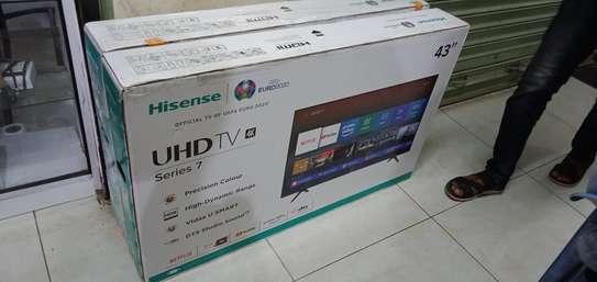 """Hisense 43"""" UHD 4K LED Smart TV - 43A7100 - Black image 1"""