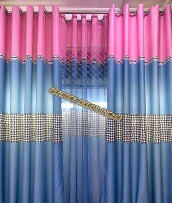 Elegant printed curtains and sheers image 3