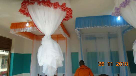 Mosquito Nets Sliding Like Curtains Fixed On The Ceiling image 5