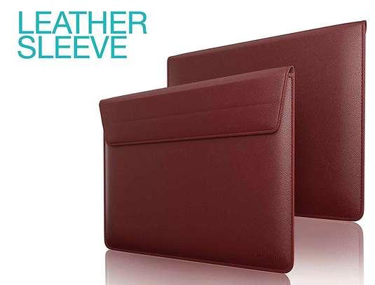 Macbook air/pro/retina Leather Laptop Sleeve Bag For MacBook 15.4inch Dark grey/Brown/Black image 2