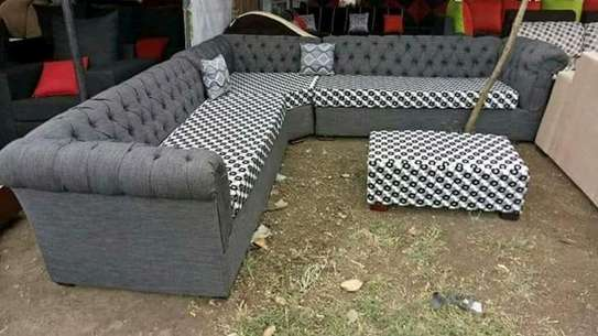 L-Shape Chesterfield Sofa (7 Seater)