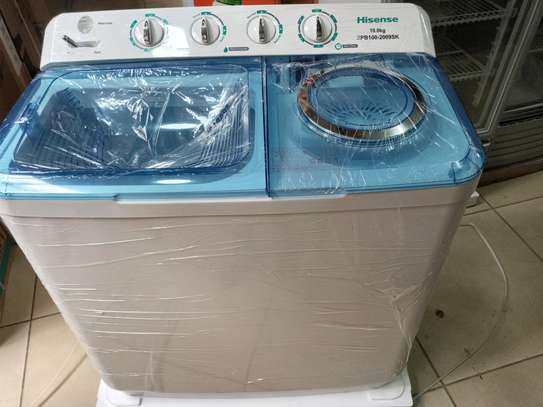 Hisense 10kg washing machine twin tub semi automatic image 1