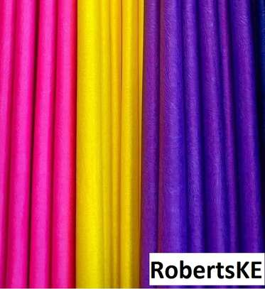 plain color quality poly-cotton curtain image 1