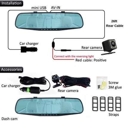 Dash Cameras 1080p HD Front and Rearview image 1