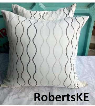 cream white throw pillows image 1