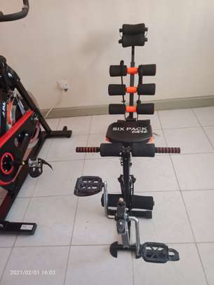 Six Pack Ab Care Exerciser with inbuilt Pedal Cycle image 2