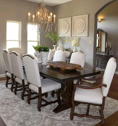 Mahogany wood dining table set for sale in Nairobi Kenya/Eight seater dining tables for sale in Nairobi Kenya/Eight seater dining set/dining sets kenya image 1