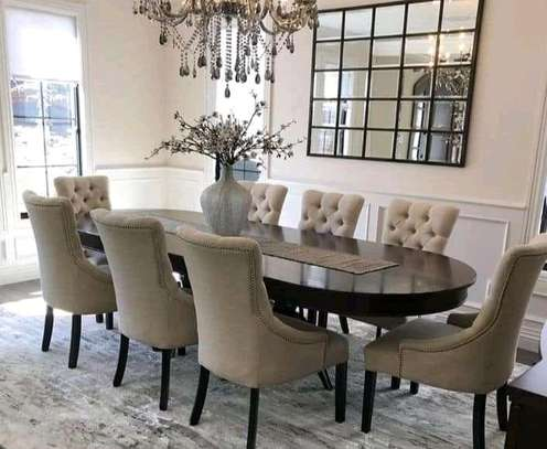 8 seater classy tufted dining set image 1