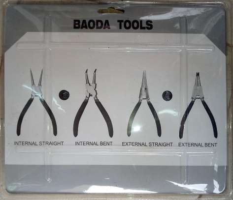 Set of 4 Circlip Snap Ring Needle Nose Round Pliers image 3