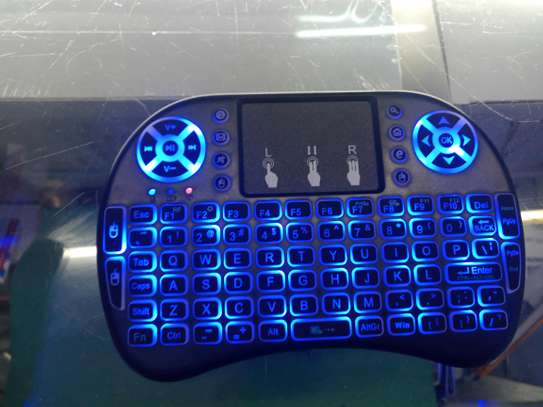 Mini Keyboard Backlit for Smart TV with dongle image 2