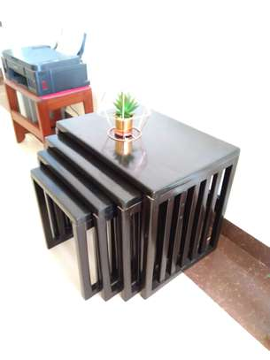 Modern Black Wood Coffee Table image 6