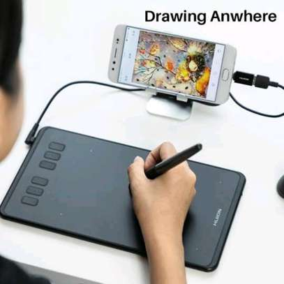 HUION H640P Graphics Pen Tablet with Battery-Free Pen image 3