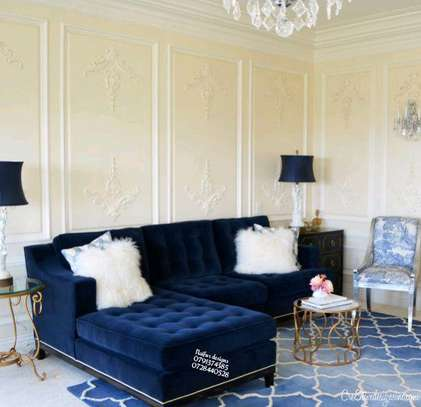 Modern livingroom sofas/blue sofas/six seater sofa image 1