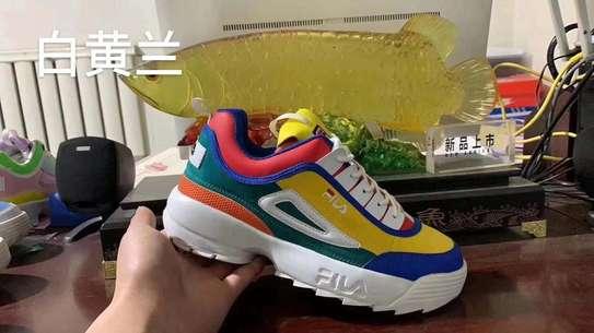 Multiple colored fila shoes image 2